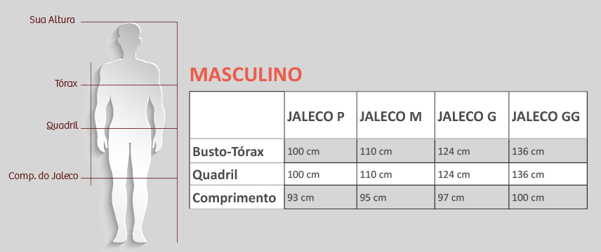 medida certa masculino