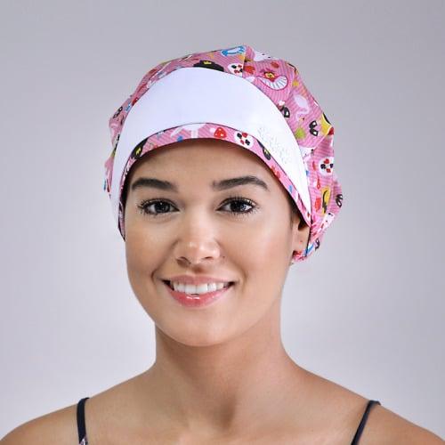 touca cirúrgica feminina estampada