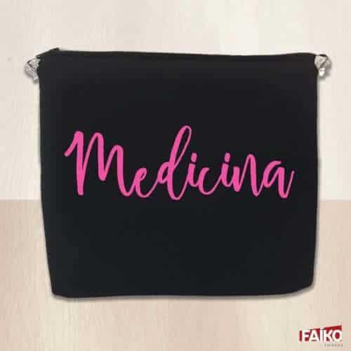 Porta-jaleco medicina rosa