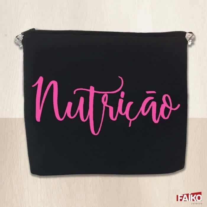 porta jaleco nutrição rosa faiko jalecos