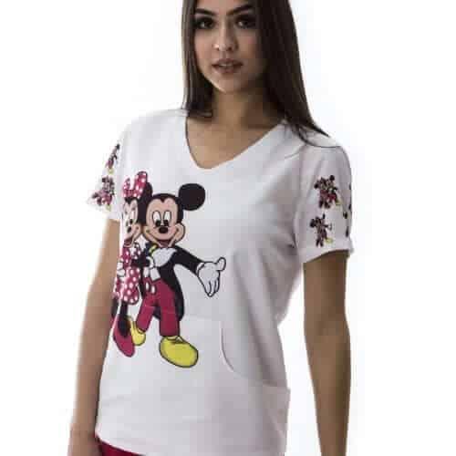 Pijama Hospitalar Minnie e Mickey (1)