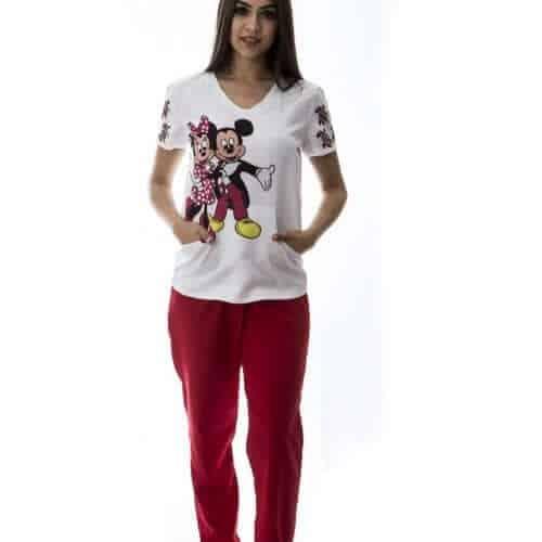 Pijama Hospitalar Minnie e Mickey 3