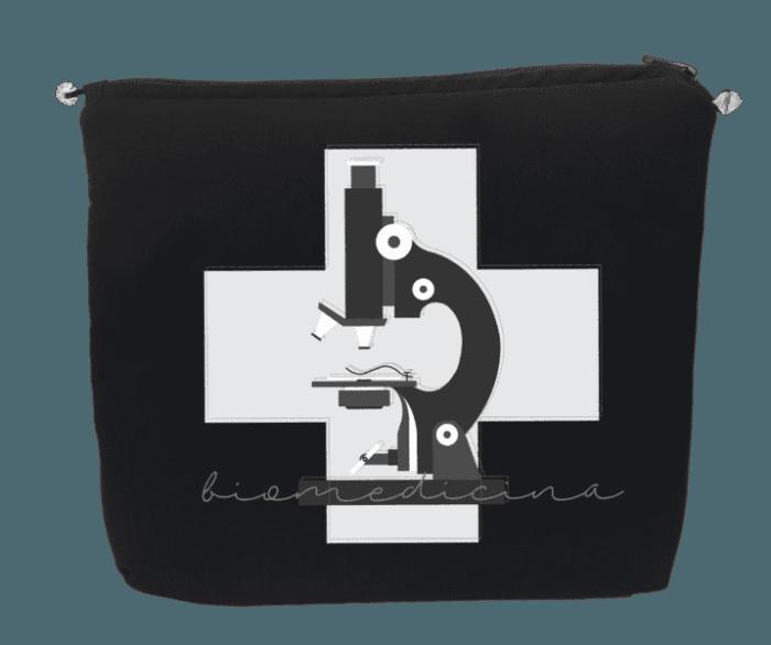 porta jaleco biomedicina microscopio