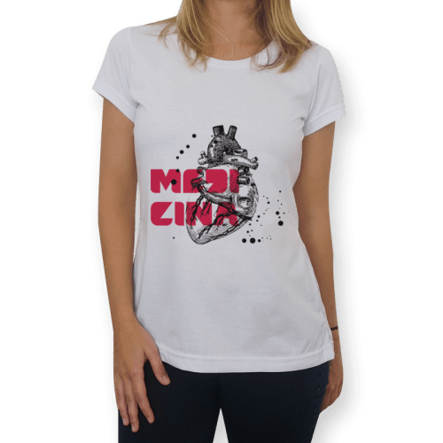 camisa medicina feminina