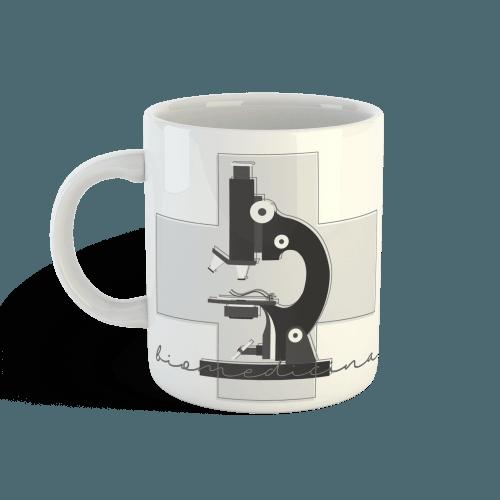 Caneca biomedicina microscópio faiko jalecos