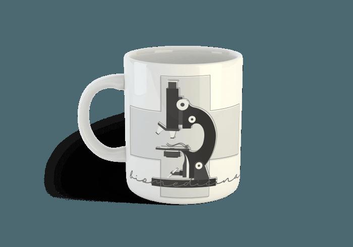 caneca biomedicina microscopio
