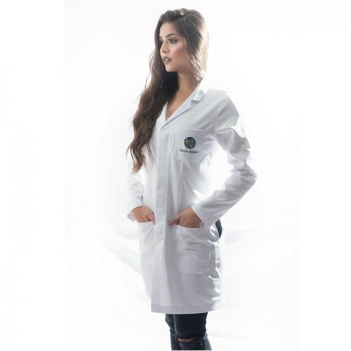 jaleco biologia feminino personalizado