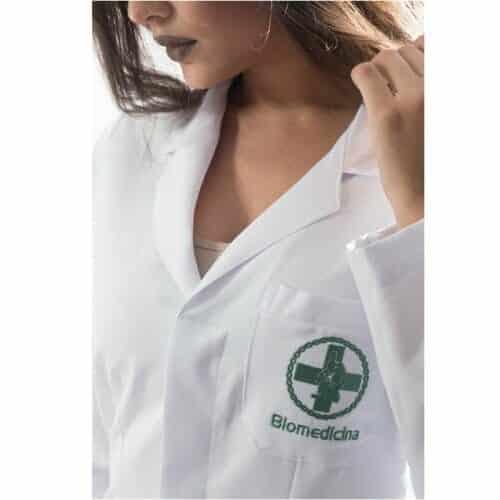jaleco biomedicina feminino personalizado