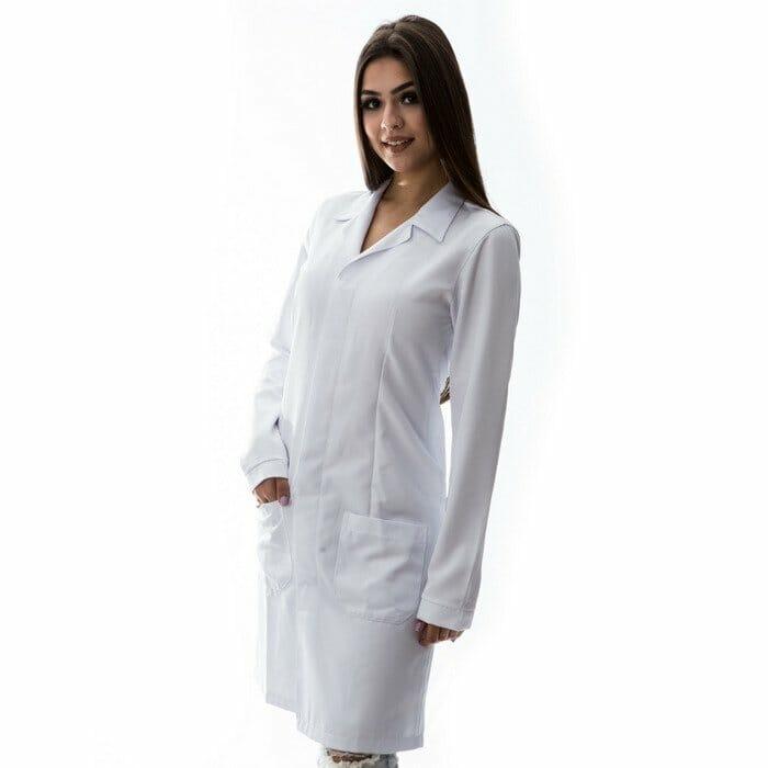 jaleco branco bordado 1