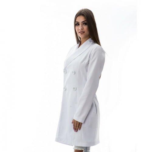 Jaleco manga comprida feminino