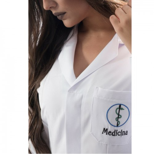 Jaleco medicina feminino personalizado