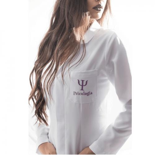 Jaleco psicologia feminino personalizado