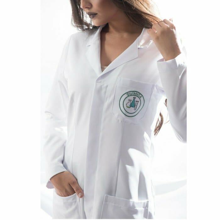 jaleco quimica feminino personalizado