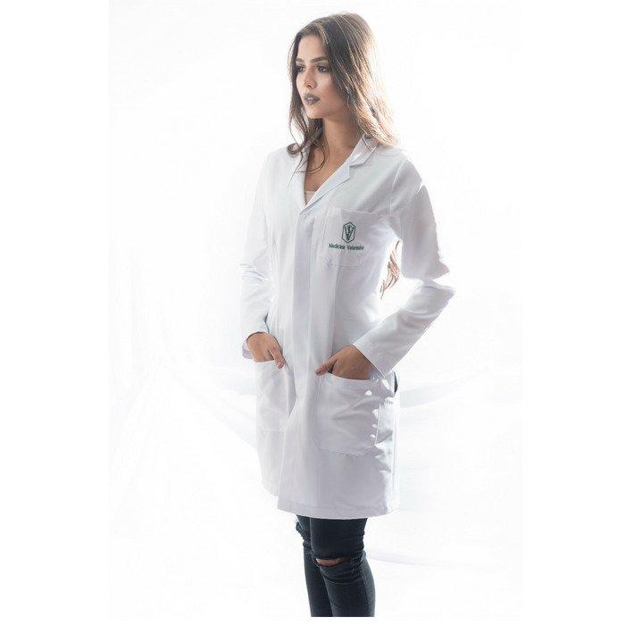 jaleco medicina veterinária feminino personalizado faiko jalecos