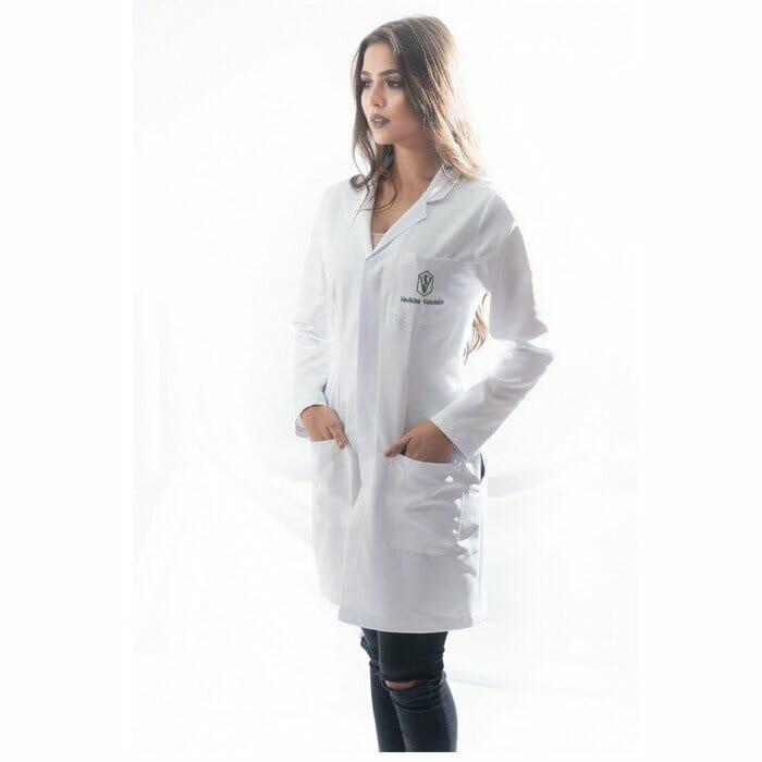 jaleco veterinária feminino personalizado