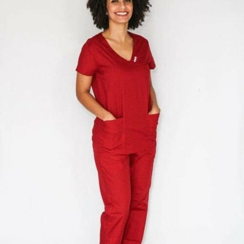 Pijama Cirúrgico Marsala