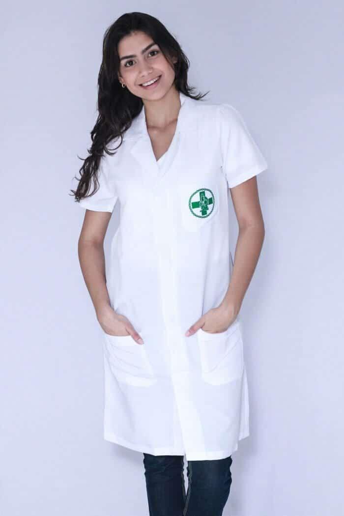 Jaleco Feminino Biomedicina Manga Curta FAIKO Jalecos 2