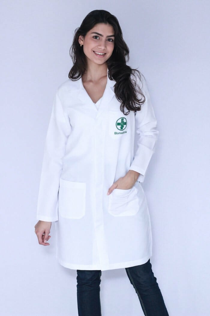 Jaleco Feminino Biomedicina Manga Longa FAIKO Jalecos 2