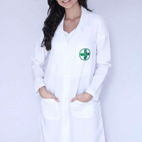 Jaleco Feminino Biomedicina Manga Longa FAIKO Jalecos 3