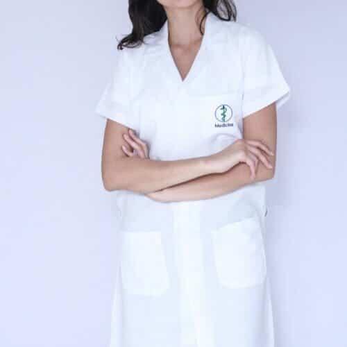 Jaleco Feminino Medicina Manga Curta FAIKO Jalecos (2)
