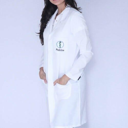 Jaleco Feminino Medicina Manga Longa FAIKO Jalecos (1)