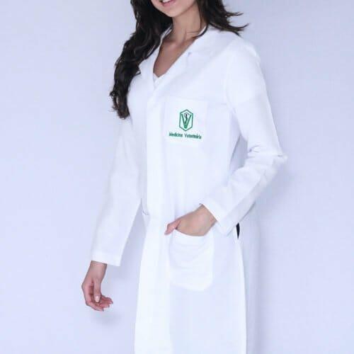 Jaleco Feminino Medicina Veterinária Manga Longa FAIKO Jalecos (1)