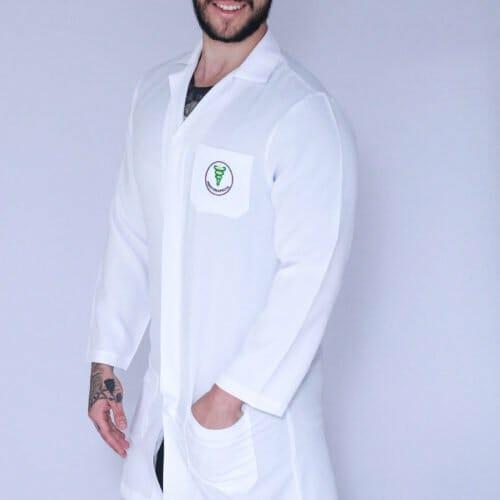 Jaleco Fisioterapia Masculino Manga Longa FAIKO Jalecos