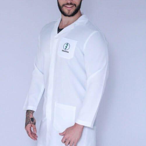 Jaleco Medicina Masculino Manga Longa FAIKO Jalecos (1)
