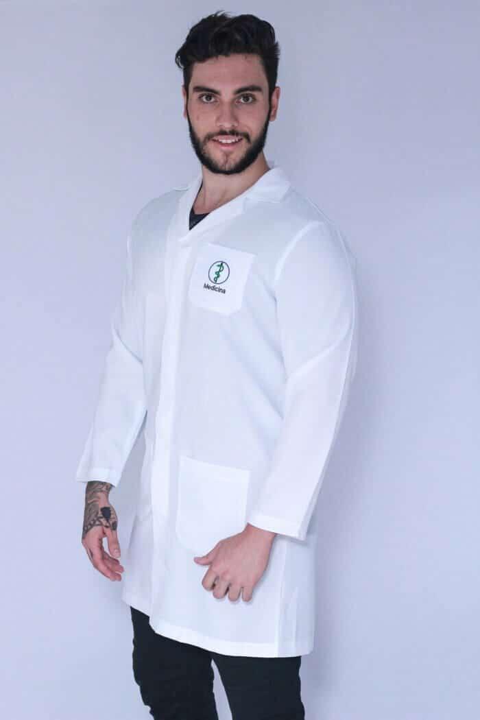 Jaleco Medicina Masculino Manga Longa FAIKO Jalecos 1
