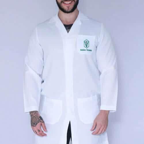 Jaleco Medicina Veterinária Masculino FAIKO Jalecos (1)
