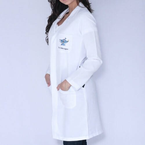 Jaleco Feminino Técnico em Enfermagem Manga Longa