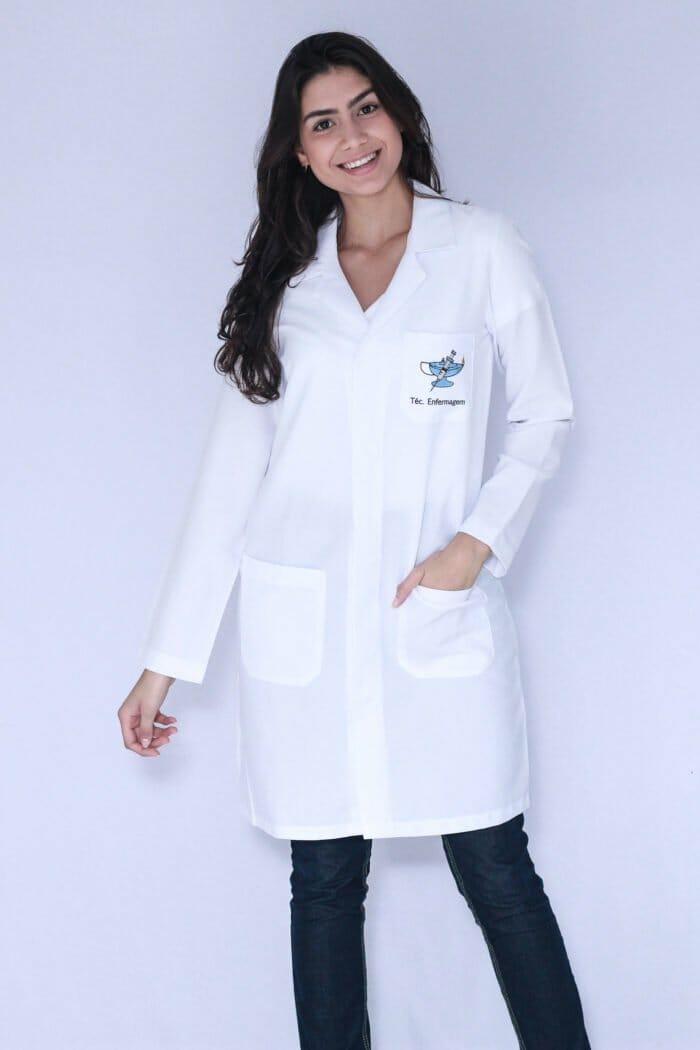 Jaleco Técnico em Enfermagem Manga Longa FAIKO Jalecos 2