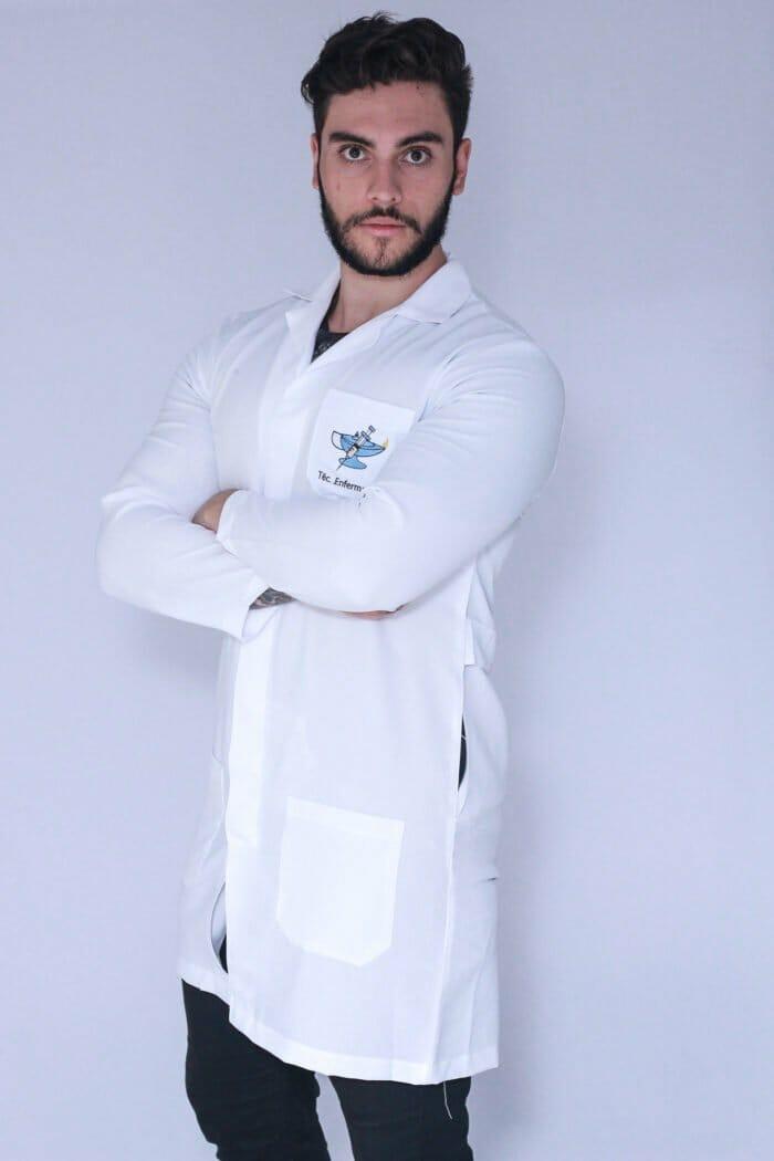 Jaleco Técnico em Enfermagem Masculino Manga Longa (1)