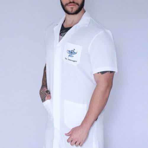 Jaleco Técnico em enfermagem masculino manga curta FAIKO Jalecos 1