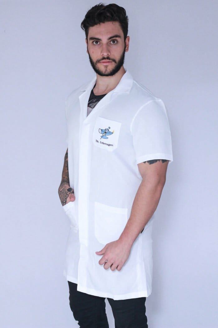 Jaleco Técnico em enfermagem masculino manga curta FAIKO Jalecos (1)