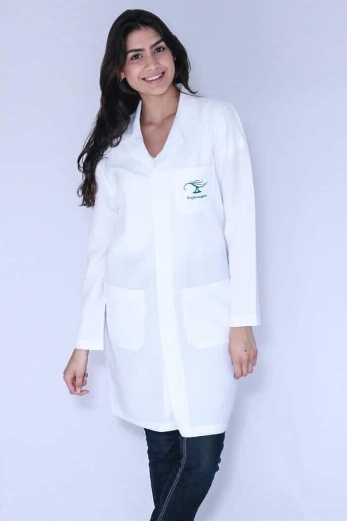 Jaleco feminino Enfermagem Manga Longa FAIKO Jalecos 2