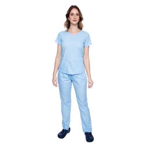 Pijama Cirúrgico Azul Bebê FAIKO Jalecos