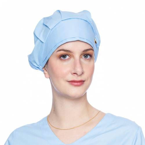 touca feminino azul claro