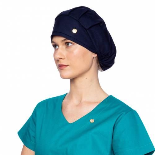 touca feminino azul marinho