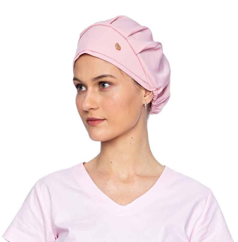 touca feminino rosa bebê