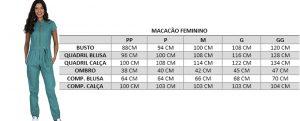 Macacão Cirúrgico Feminino Mayra