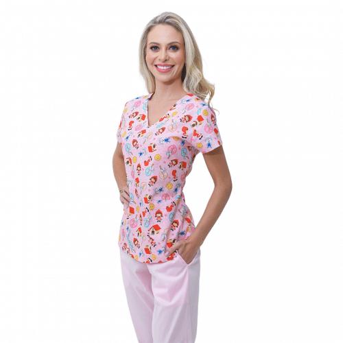 Pijama Cirúrgico Chapeuzinho Vermelho