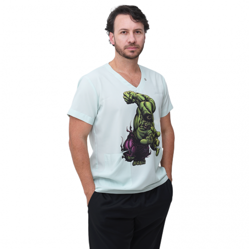 Pijama Cirúrgico Masculino Incrível Hulk