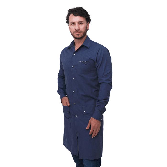 Jaleco Eros Masculino Jeans Azul