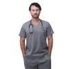 Pijama Cirúrgico Básico Masculino Cinza
