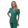 Pijama Cirúrgico Feminino Mel Verde
