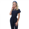 Pijama Cirúrgico Feminino Queen Azul Marinho