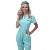Pijama Cirúrgico Feminino Queen Verde Água
